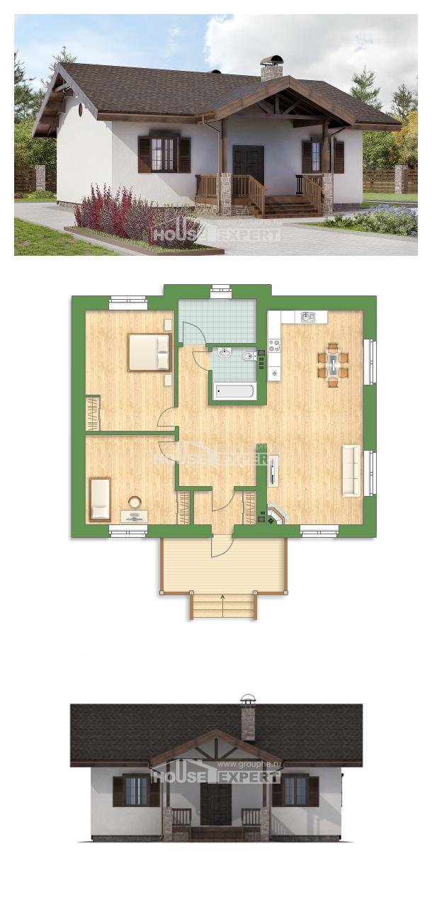 Проект дома 090-002-П   House Expert