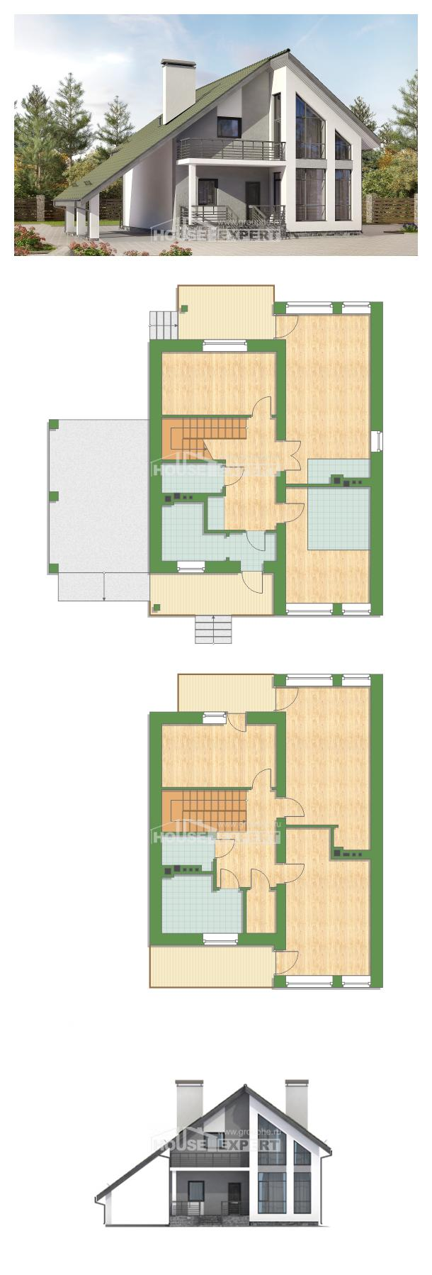Проект на къща 170-009-L | House Expert