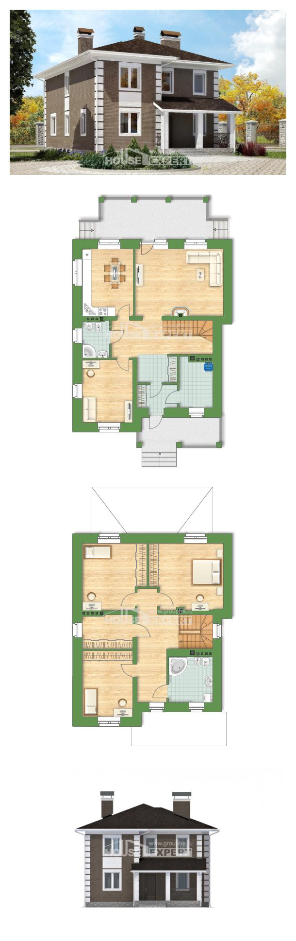 Ev villa projesi 185-002-R | House Expert