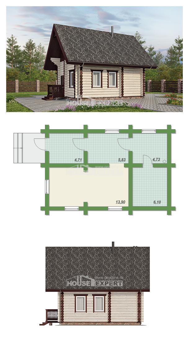 Проект на къща 035-001-L   House Expert