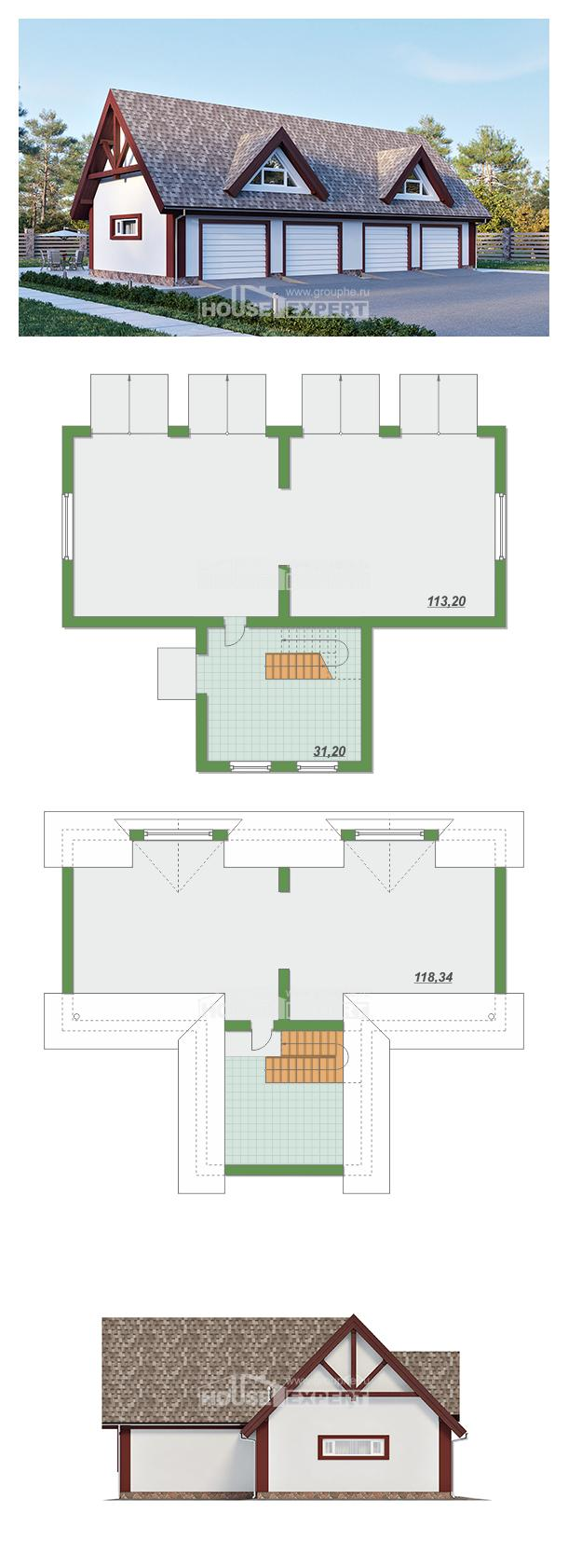 Проект на къща 145-002-L | House Expert