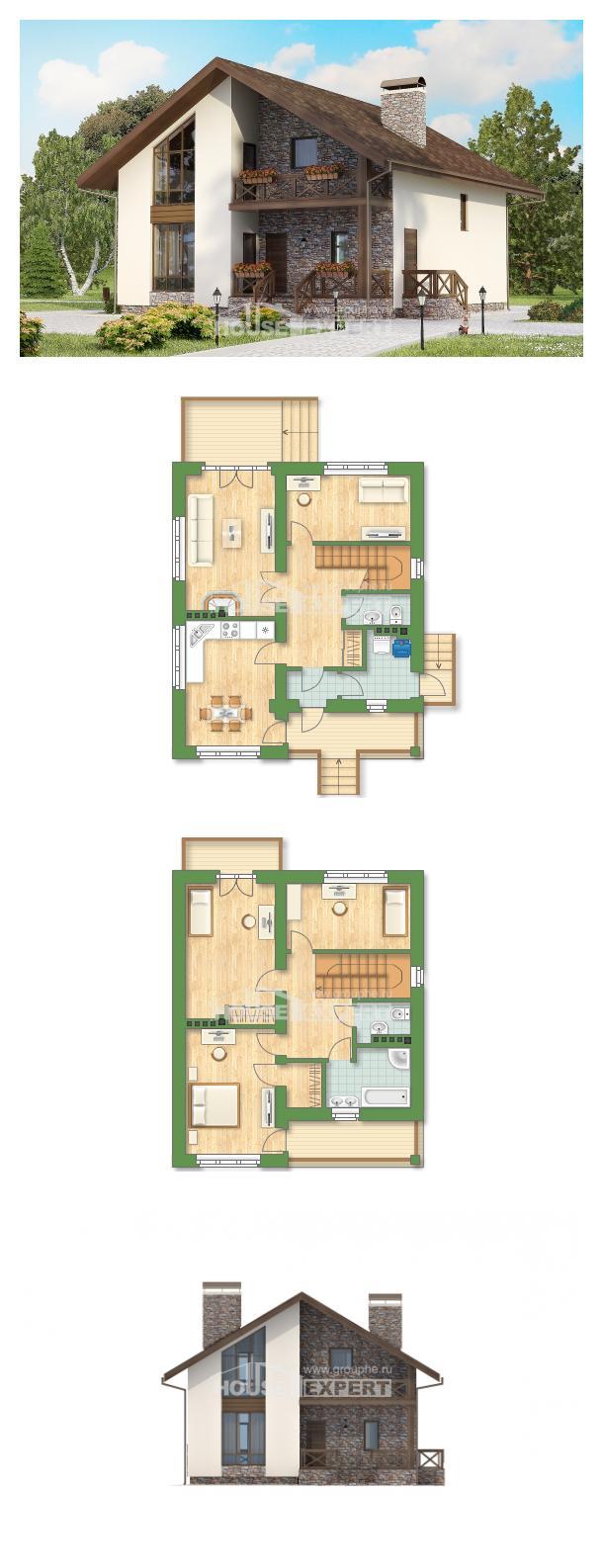 خطة البيت 155-001-R | House Expert