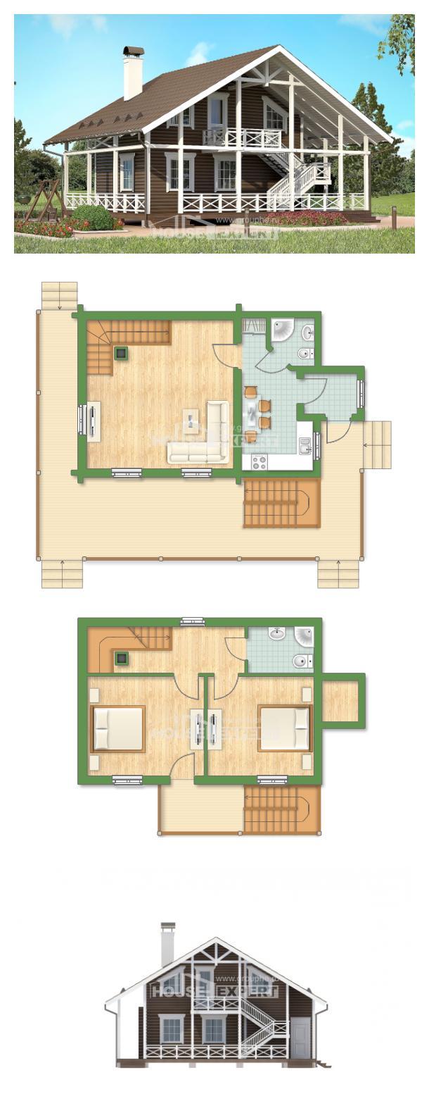 Проект на къща 080-001-R   House Expert