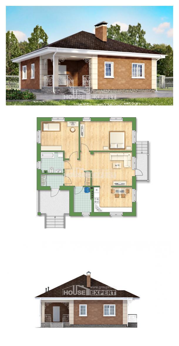 Проект на къща 100-001-L   House Expert
