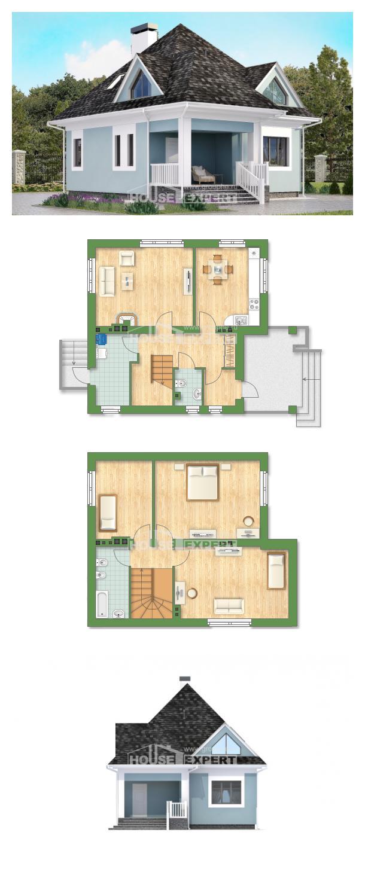 Проект на къща 110-001-L   House Expert