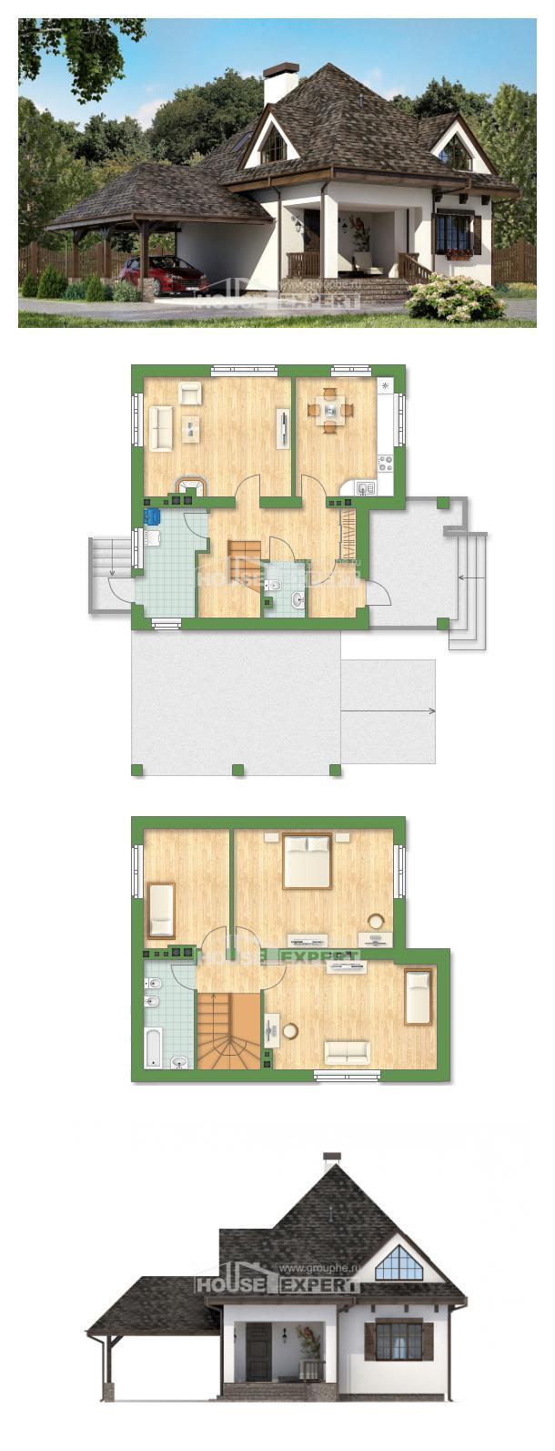 خطة البيت 110-002-L | House Expert