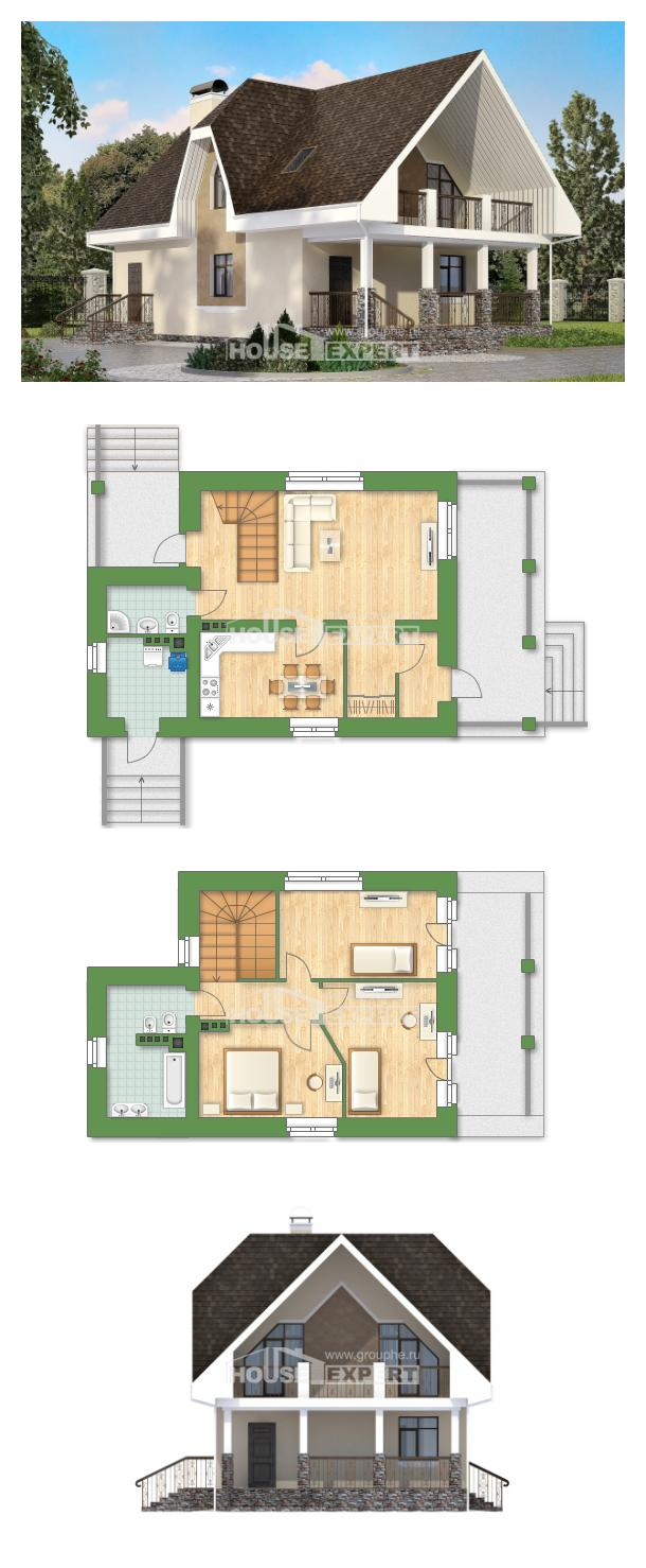 خطة البيت 125-001-L | House Expert