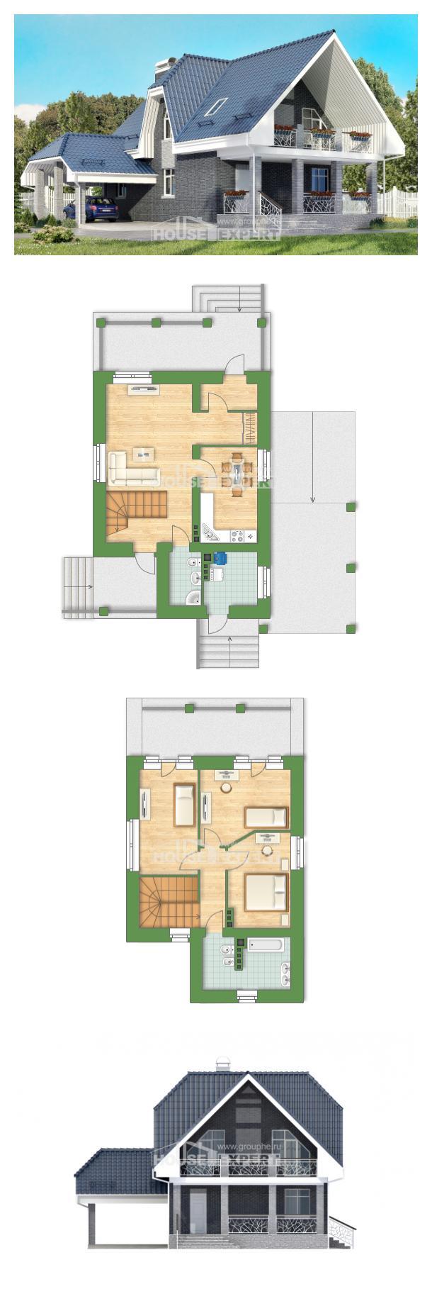 خطة البيت 125-002-L | House Expert
