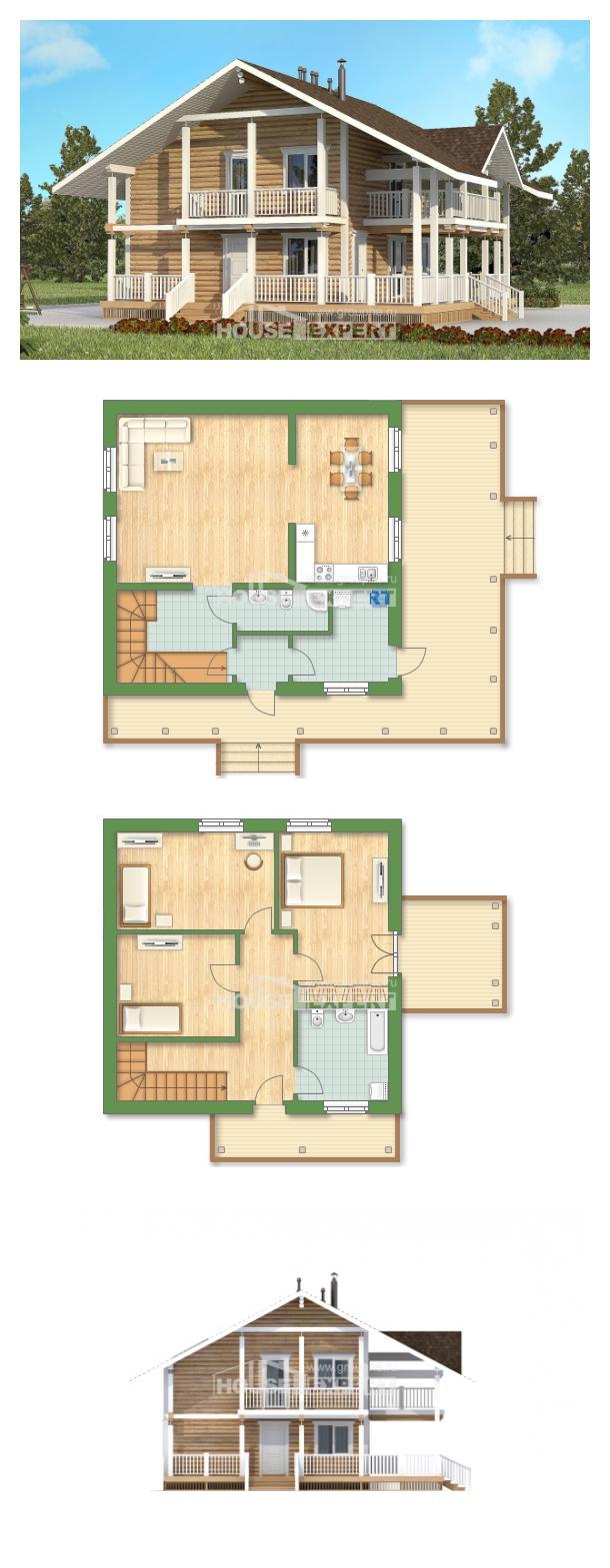 Проект на къща 130-001-R   House Expert