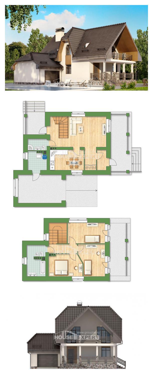 Проект на къща 150-001-L | House Expert