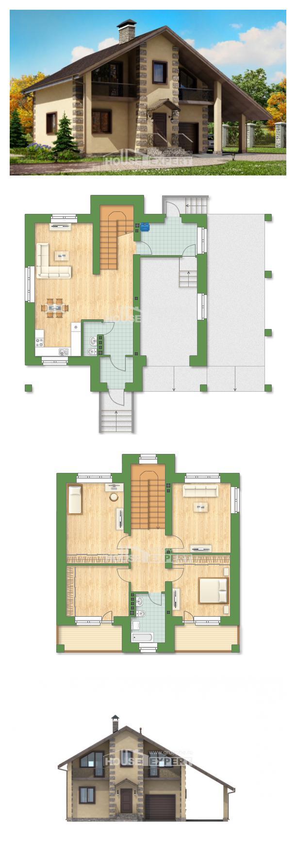 Ev villa projesi 150-003-R | House Expert