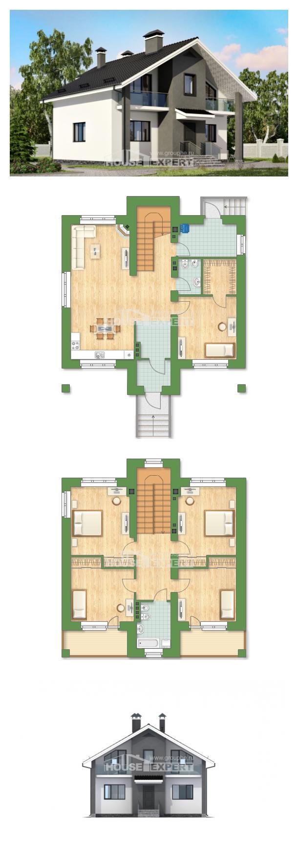 Ev villa projesi 150-005-L | House Expert