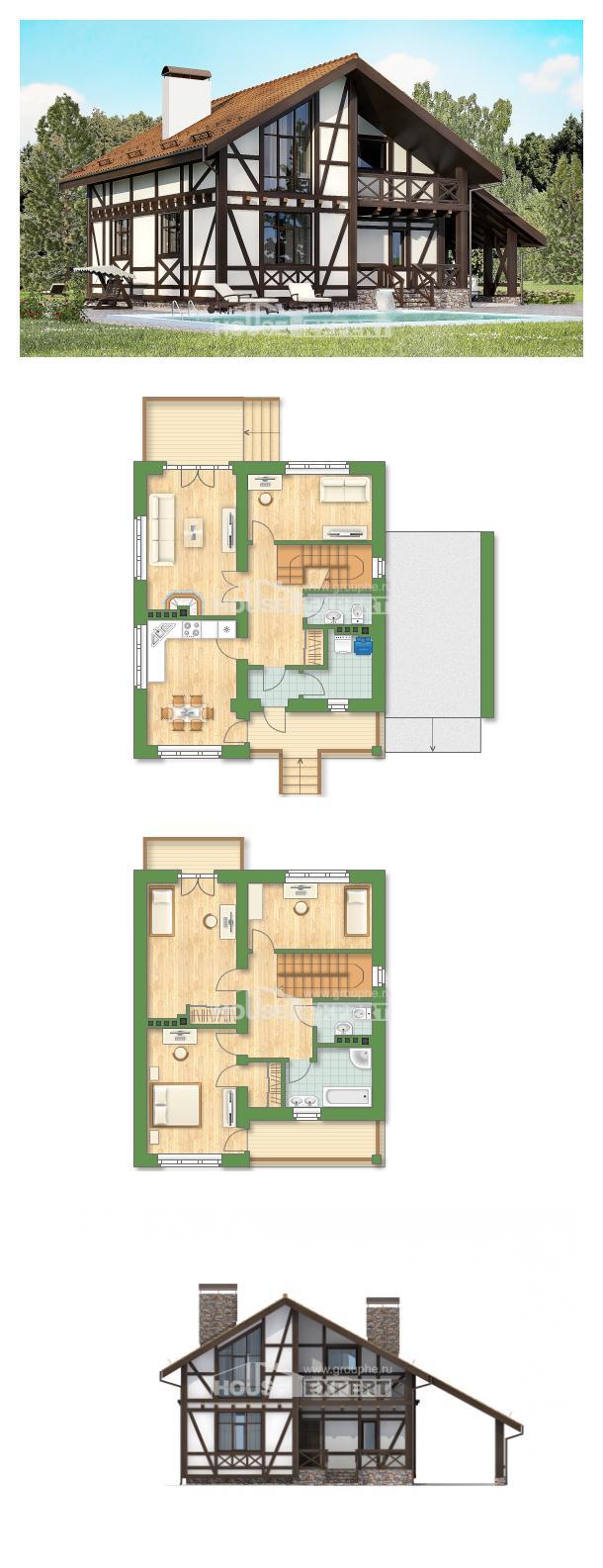Ev villa projesi 155-002-R | House Expert