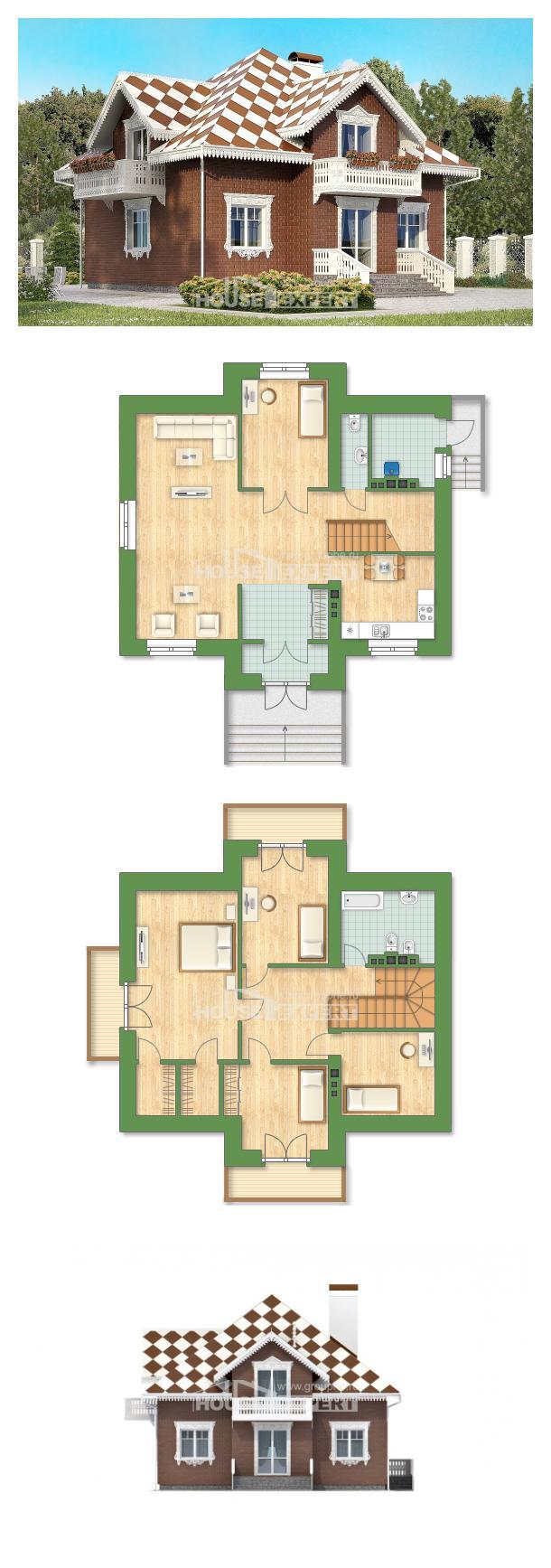 خطة البيت 155-003-L | House Expert