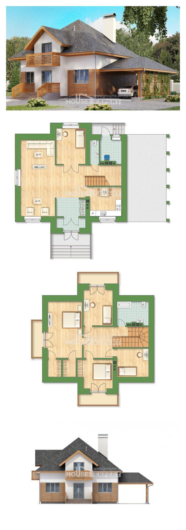 Ev villa projesi 155-004-R | House Expert