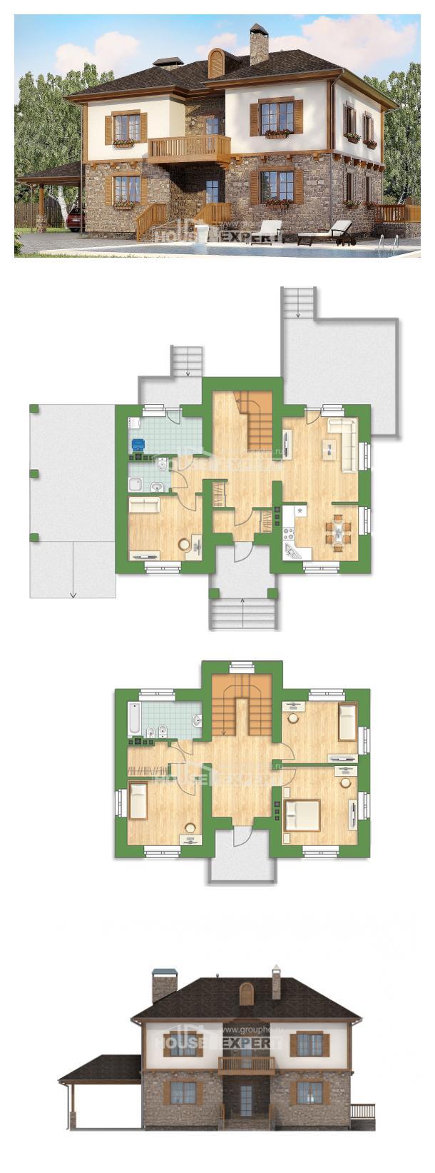 Ev villa projesi 155-006-L | House Expert