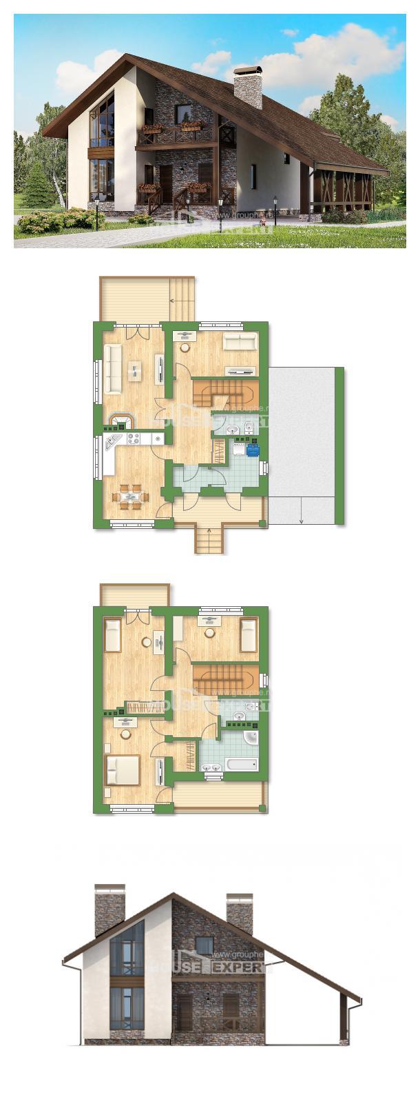 خطة البيت 155-007-R | House Expert