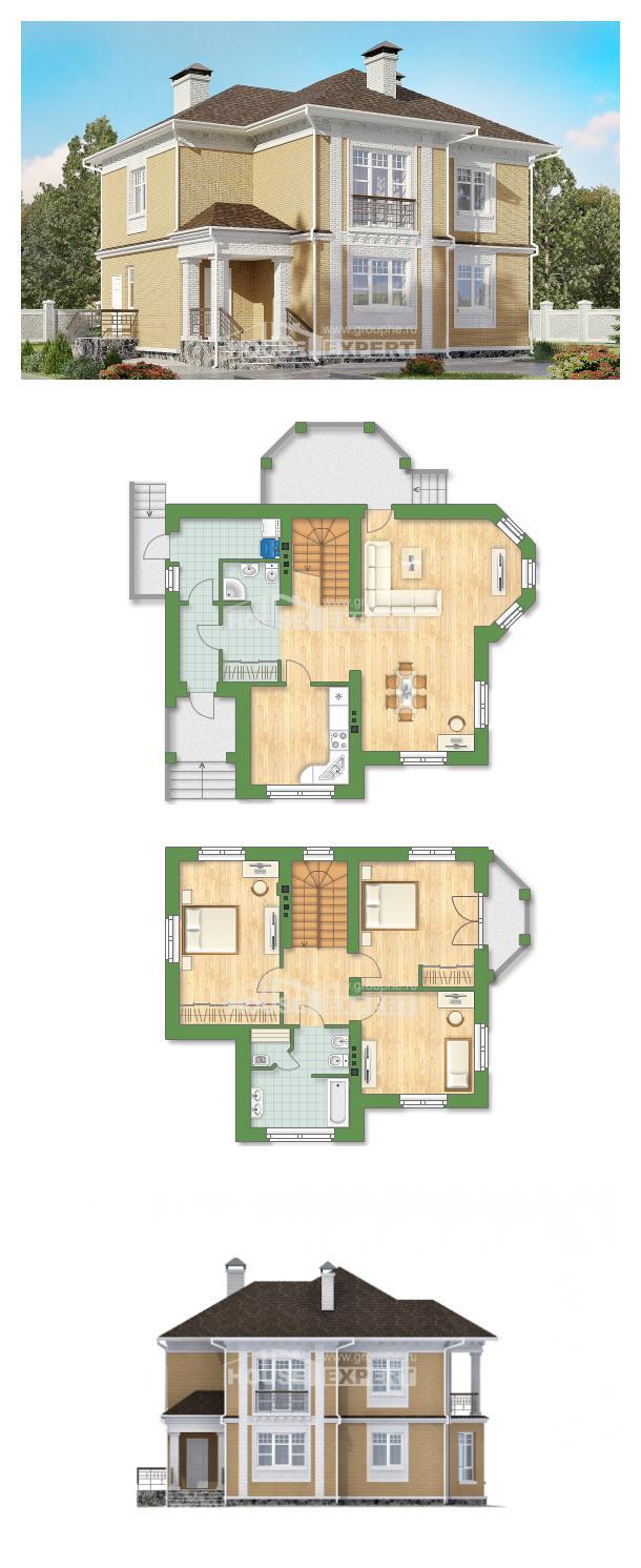 Проект на къща 160-001-L   House Expert