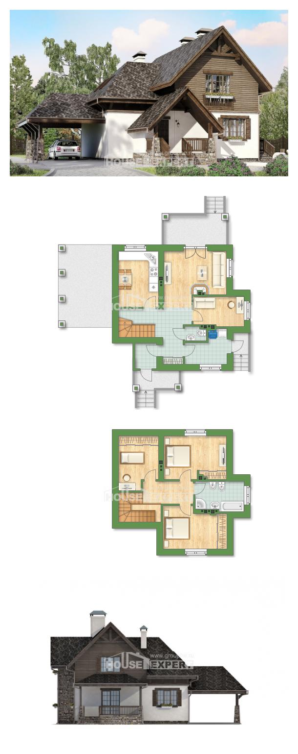 Проект на къща 160-002-L | House Expert