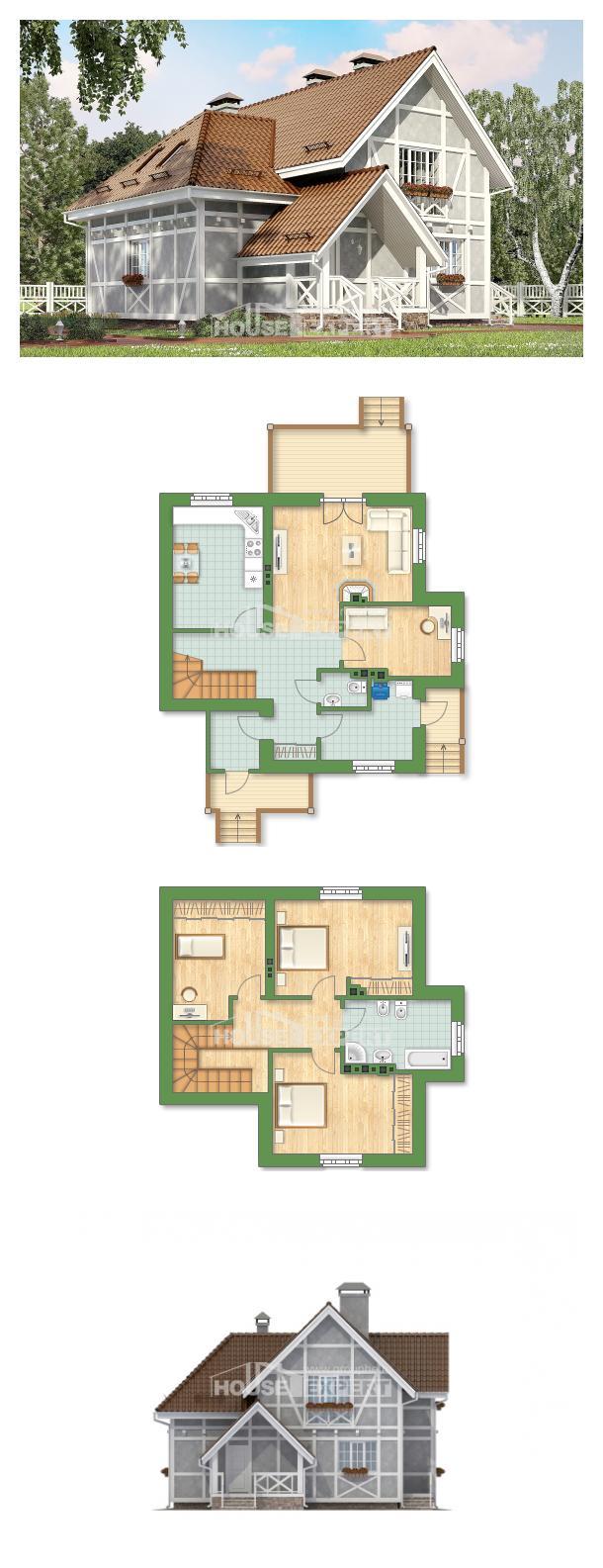 خطة البيت 160-003-L | House Expert