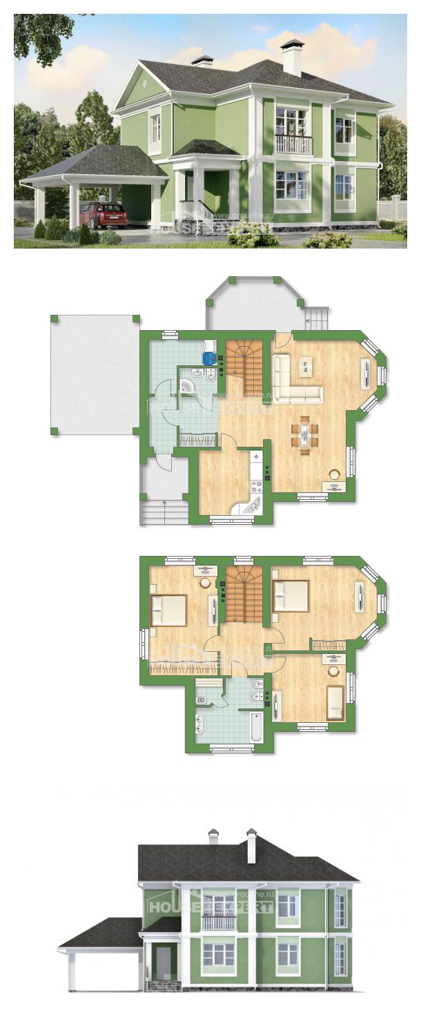 Проект на къща 170-001-L | House Expert