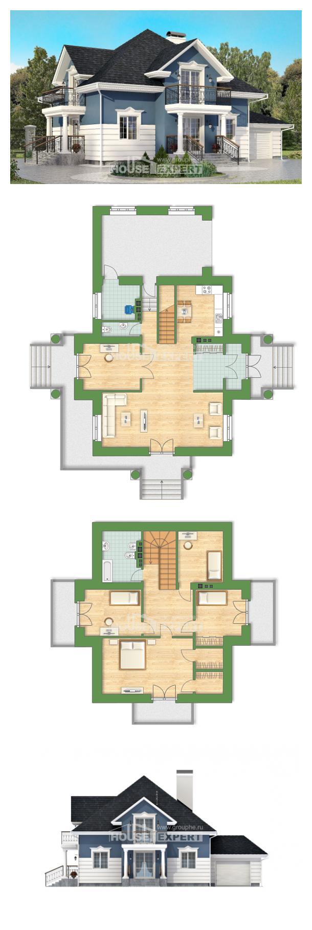 Ev villa projesi 180-002-R | House Expert