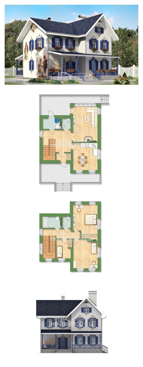 Ev villa projesi 180-003-R | House Expert