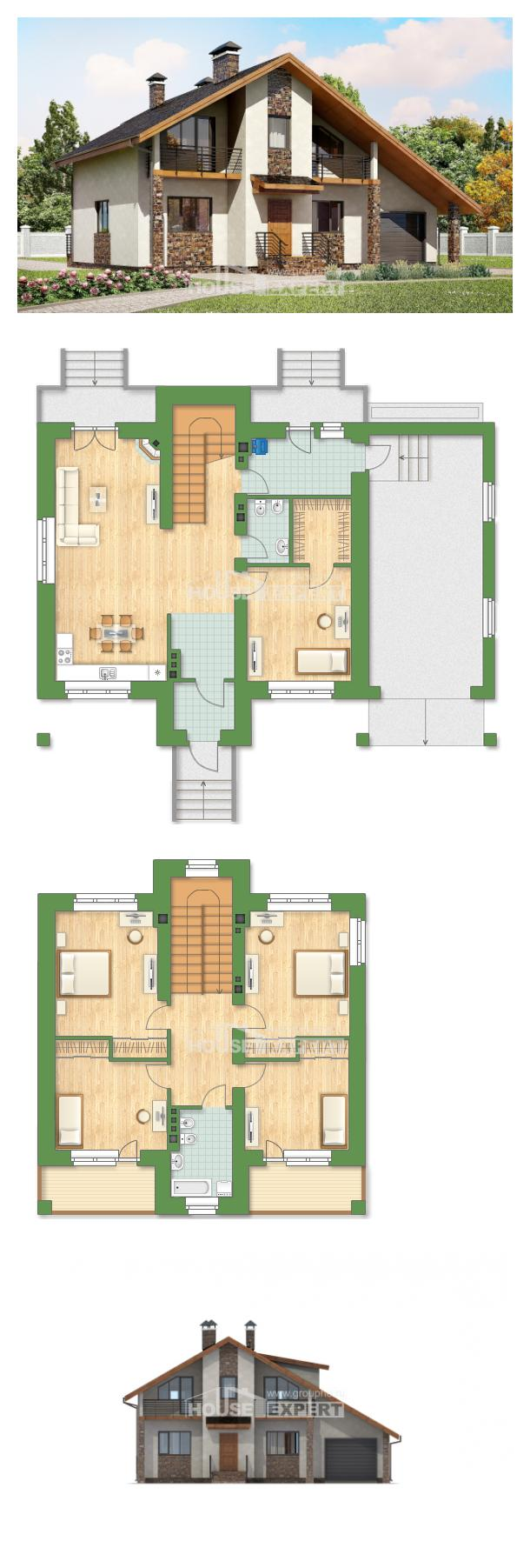Ev villa projesi 180-008-R | House Expert