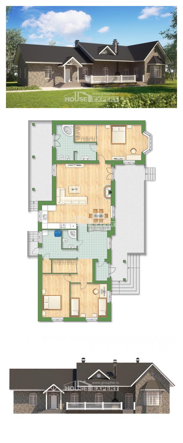 خطة البيت 195-001-R | House Expert