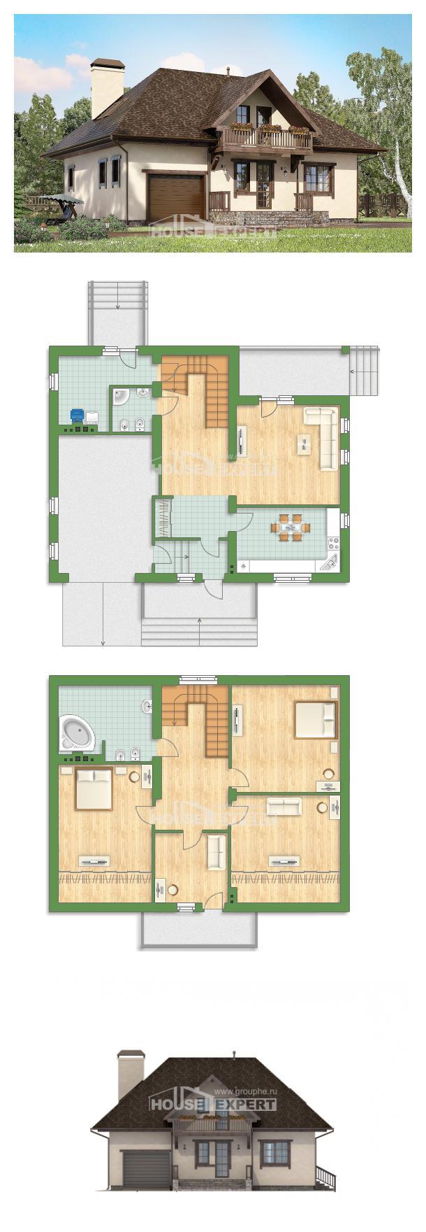 Проект на къща 200-001-L | House Expert