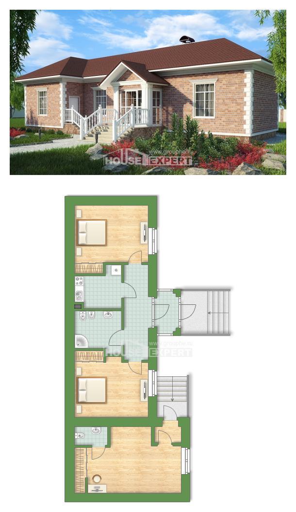 خطة البيت 090-001-L | House Expert