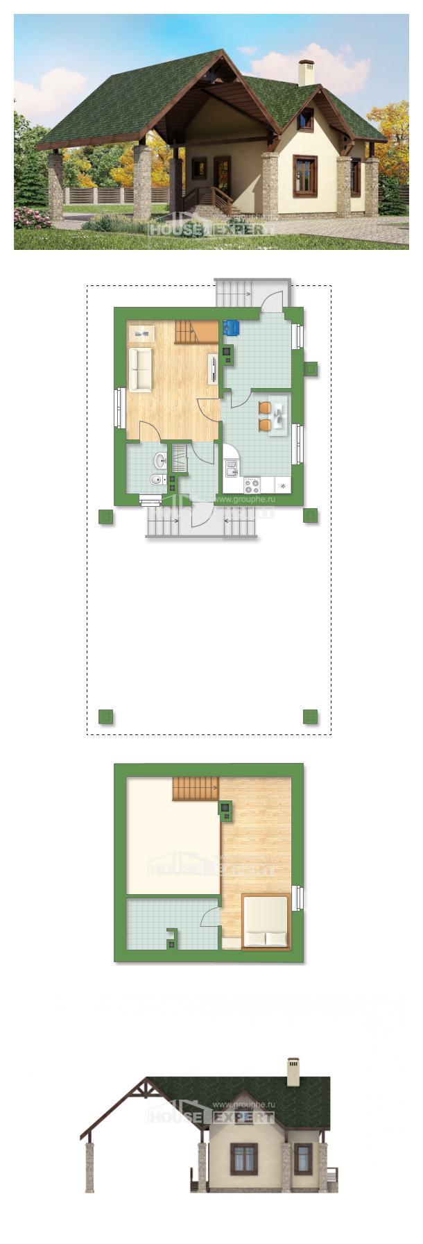 Проект дома 060-001-Л   House Expert