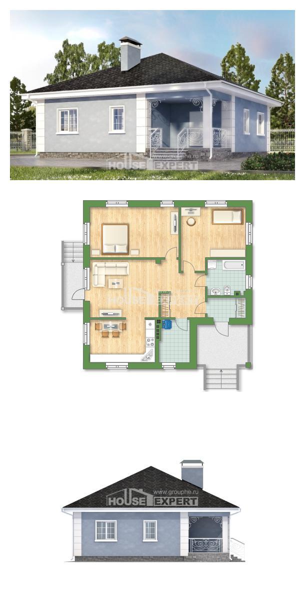 Projekt domu 100-001-R | House Expert
