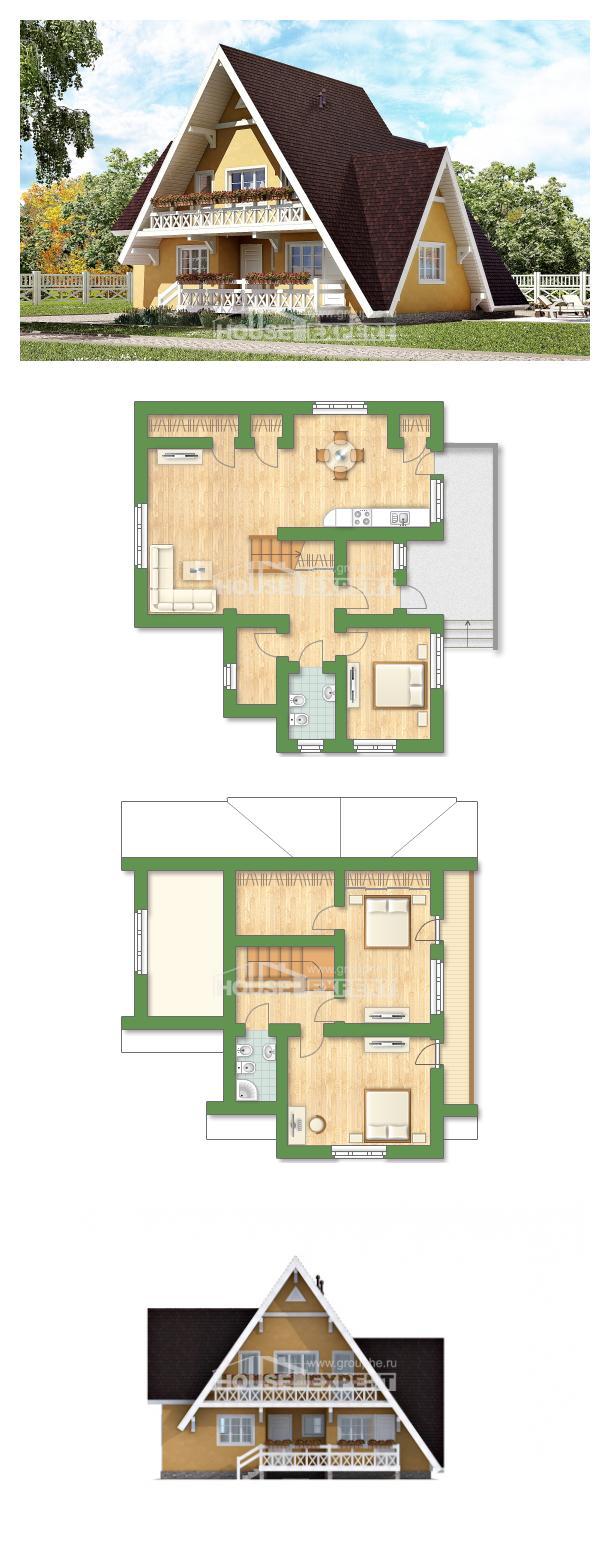 Proyecto de casa 155-008-R | House Expert