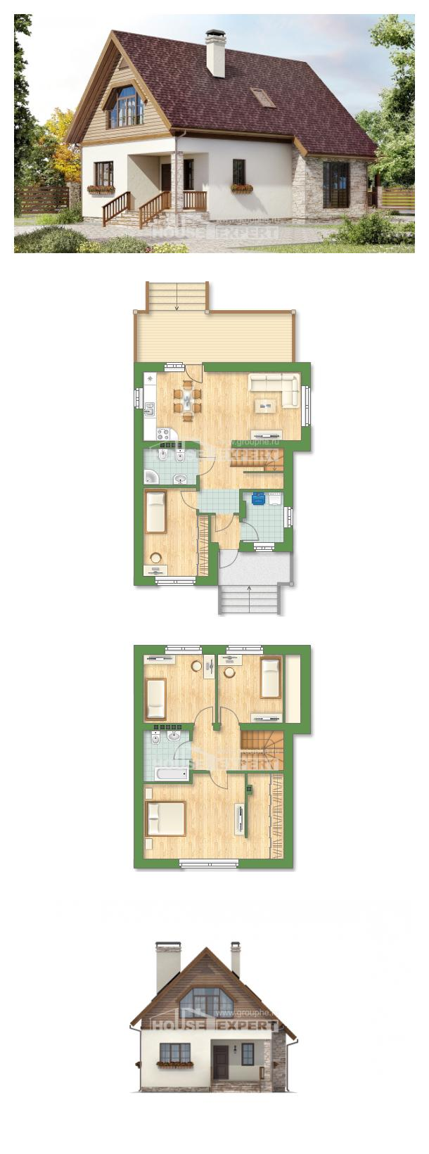 Projekt domu 140-001-R | House Expert