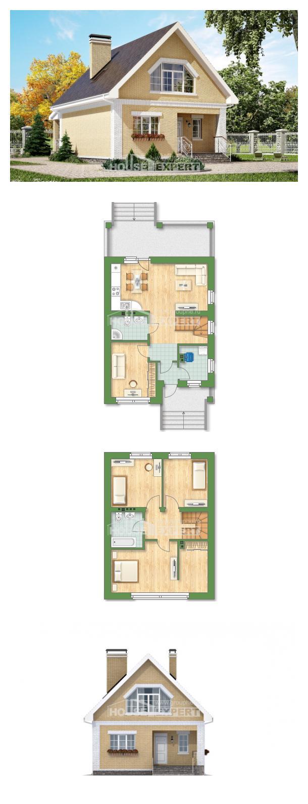 Проект на къща 130-004-R   House Expert