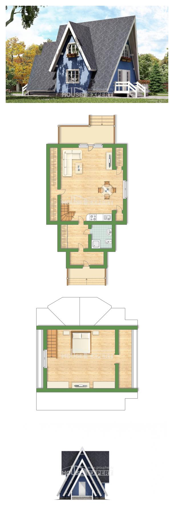 Projekt domu 100-002-R | House Expert