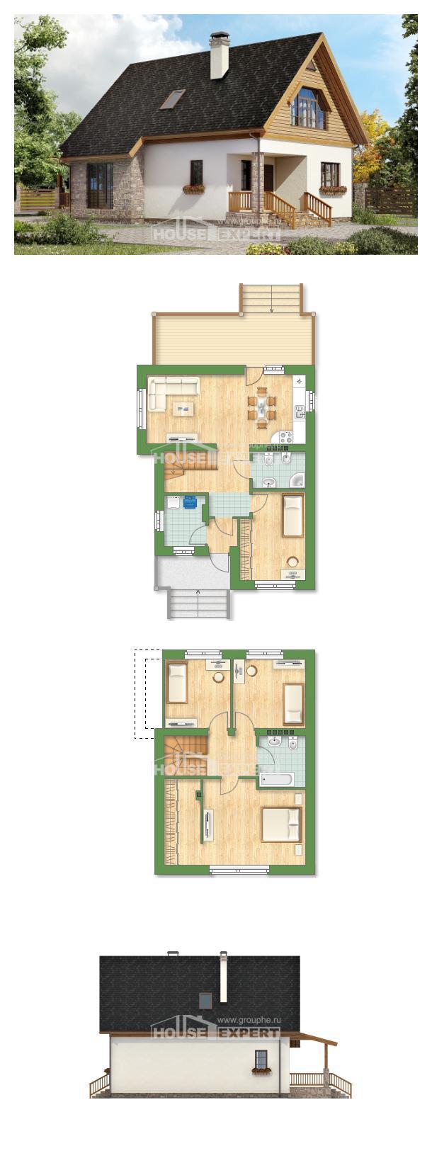Projekt domu 140-001-L   House Expert