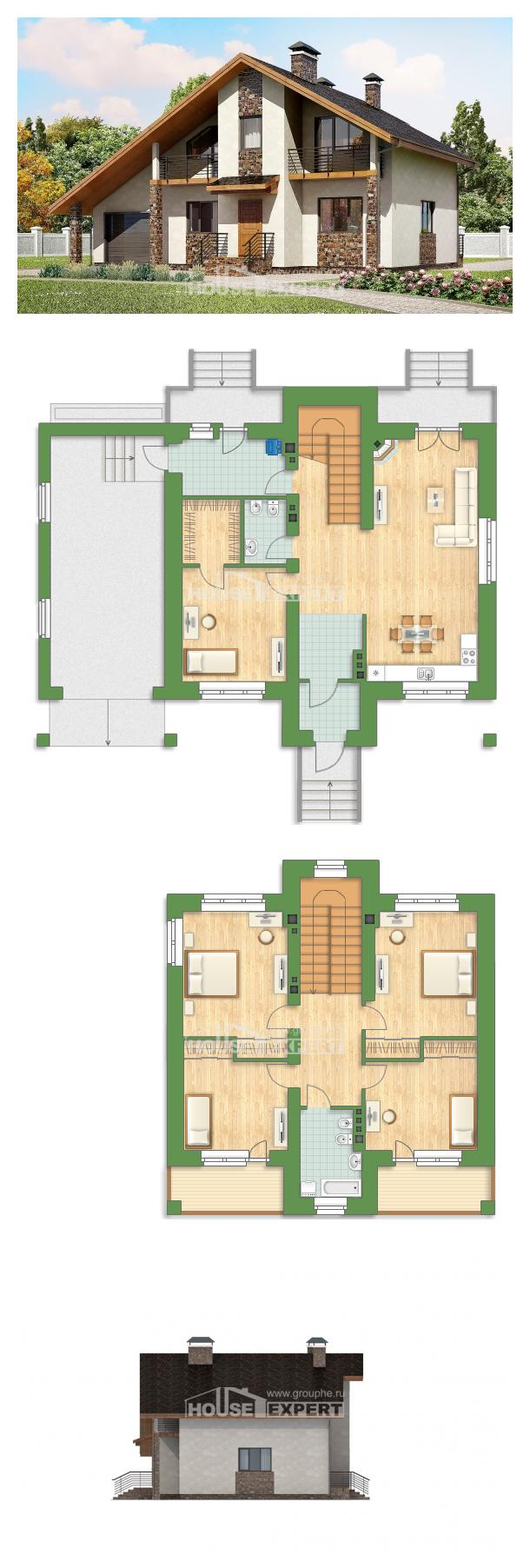 Ev villa projesi 180-008-L | House Expert