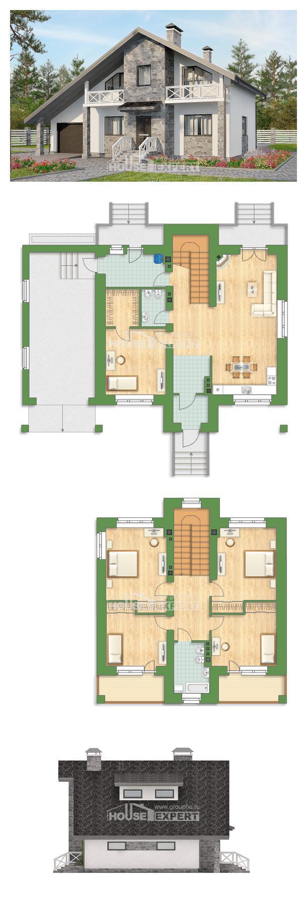 Ev villa projesi 180-017-L | House Expert