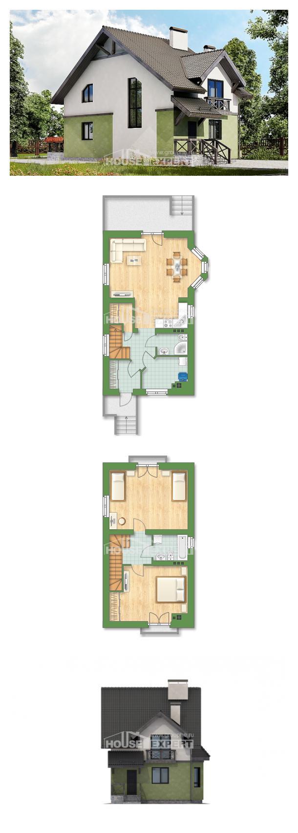 Ev villa projesi 120-003-R | House Expert