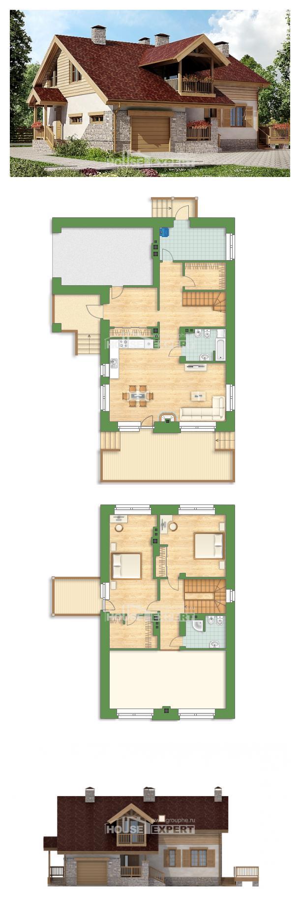 Проект на къща 165-002-R | House Expert