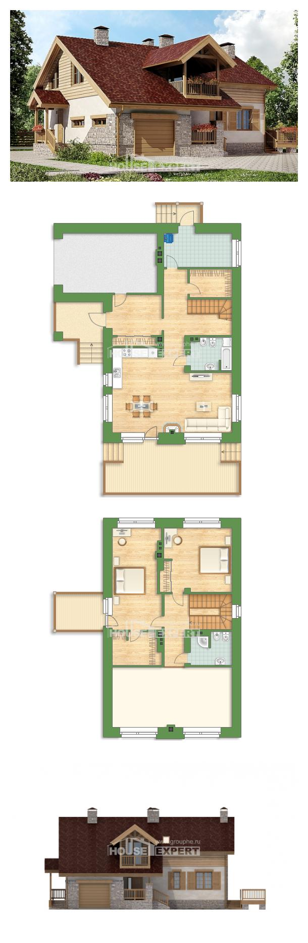 Ev villa projesi 165-002-R | House Expert
