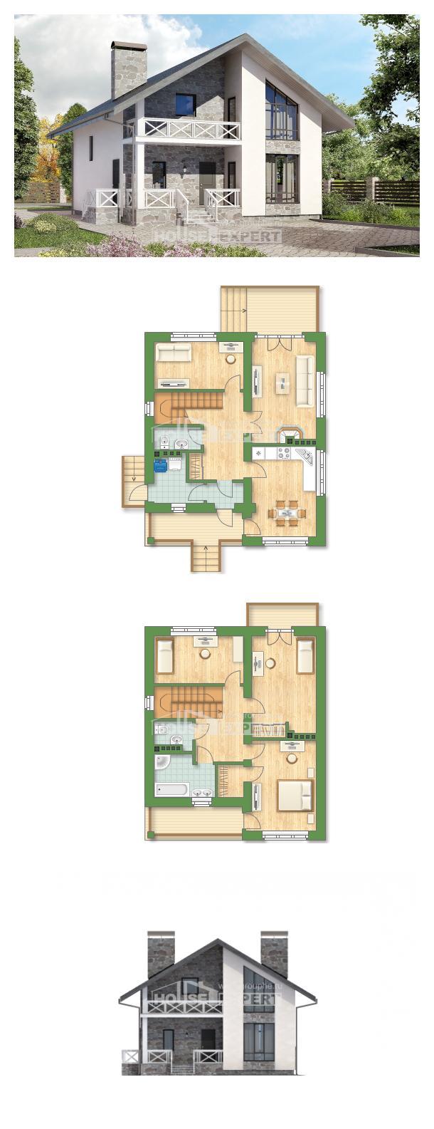 Проект на къща 155-001-L | House Expert