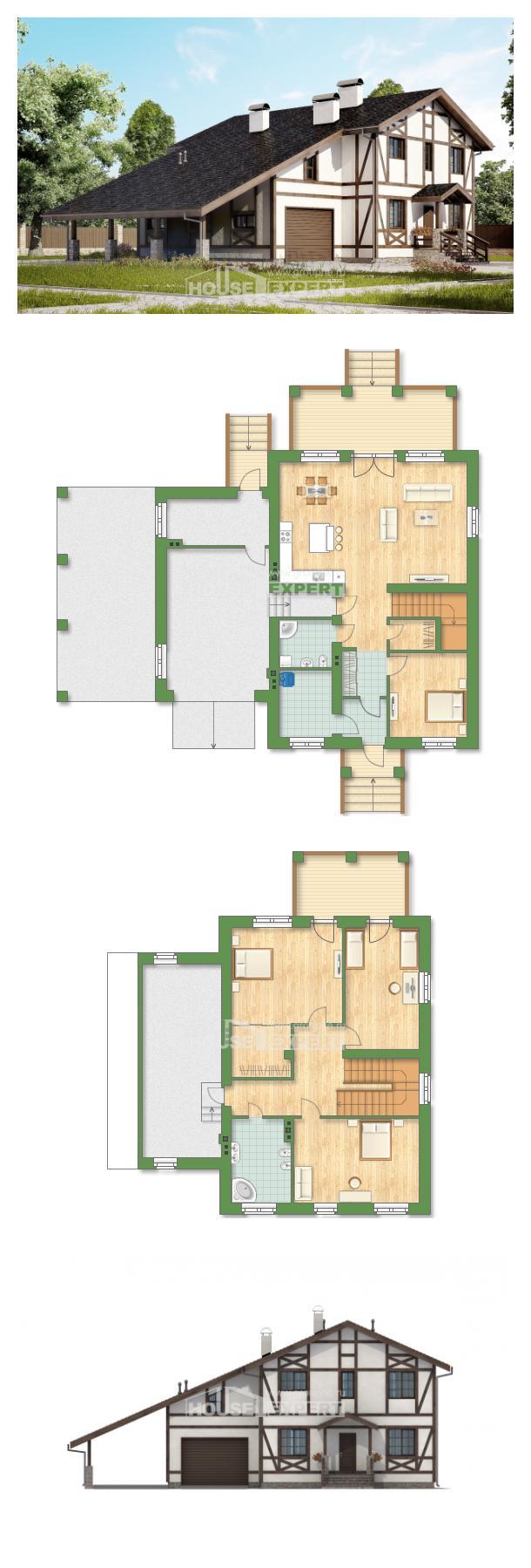 Проект на къща 250-002-L | House Expert