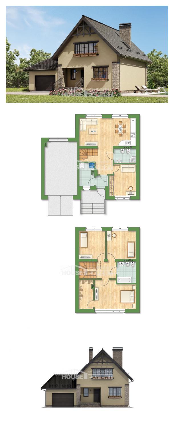 Проект на къща 160-005-L   House Expert