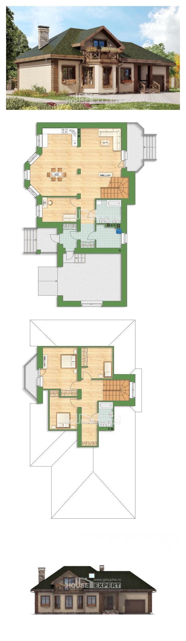خطة البيت 180-010-R | House Expert