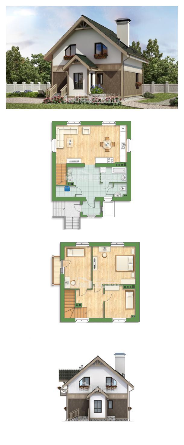 خطة البيت 105-001-L | House Expert
