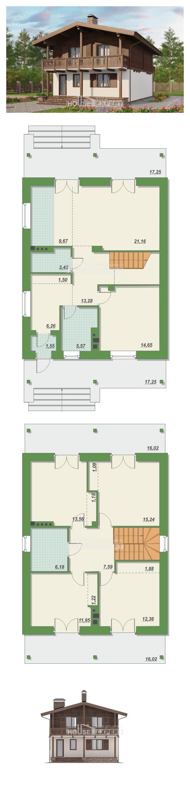 Ev villa projesi 150-016-L | House Expert