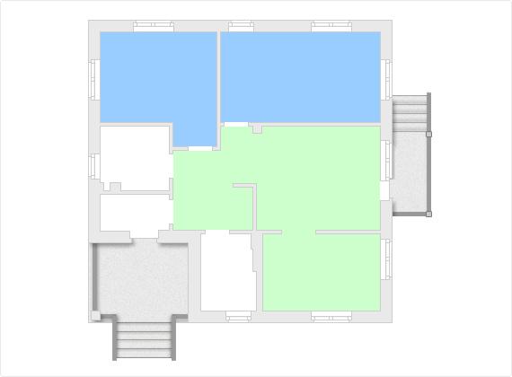 Зонирование одноэтажного дома